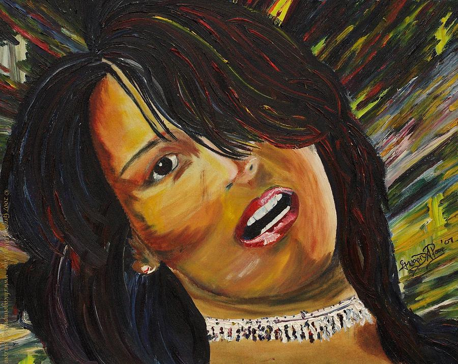 Portrait Painting Painting - Miami Latina by Gregory Allen Page