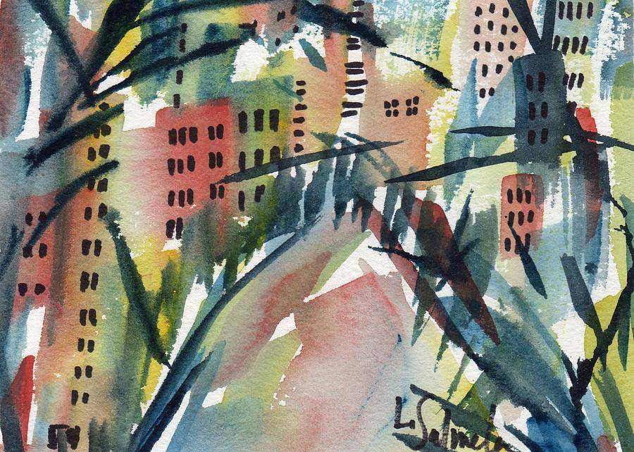 Landscape Painting - Miami by Laurie Salmela