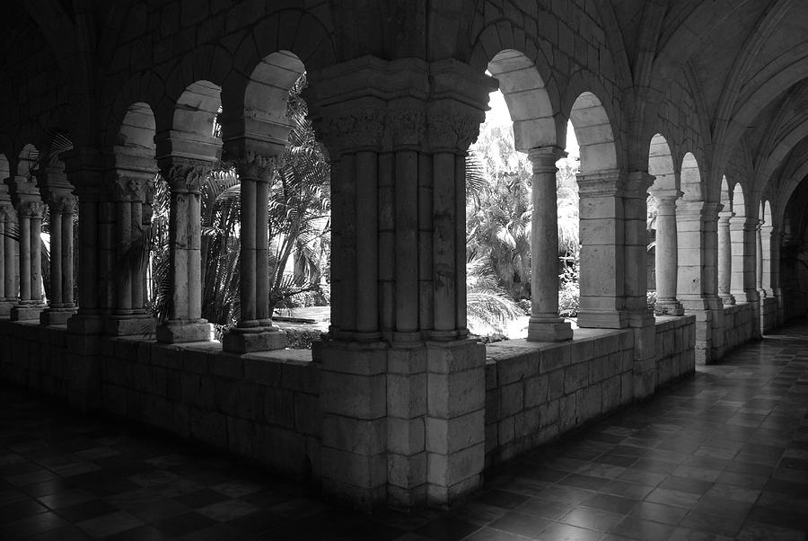Black And White Photograph - Miami Monastery In Black And White by Rob Hans