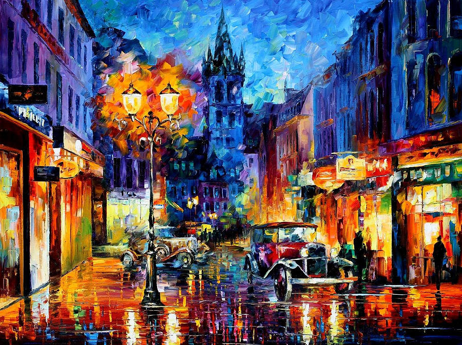 Miami Palette Knife Oil Painting On Canvas By Leonid Afremov - Painting miami