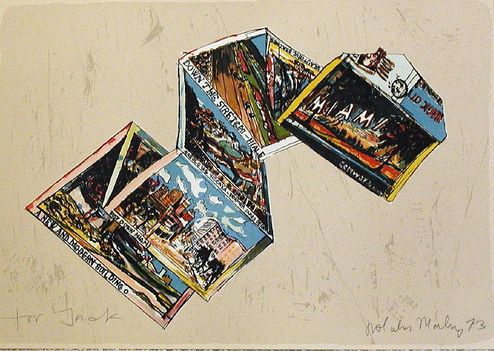 Representational Print - Miami Postcard by Malcolm Morley