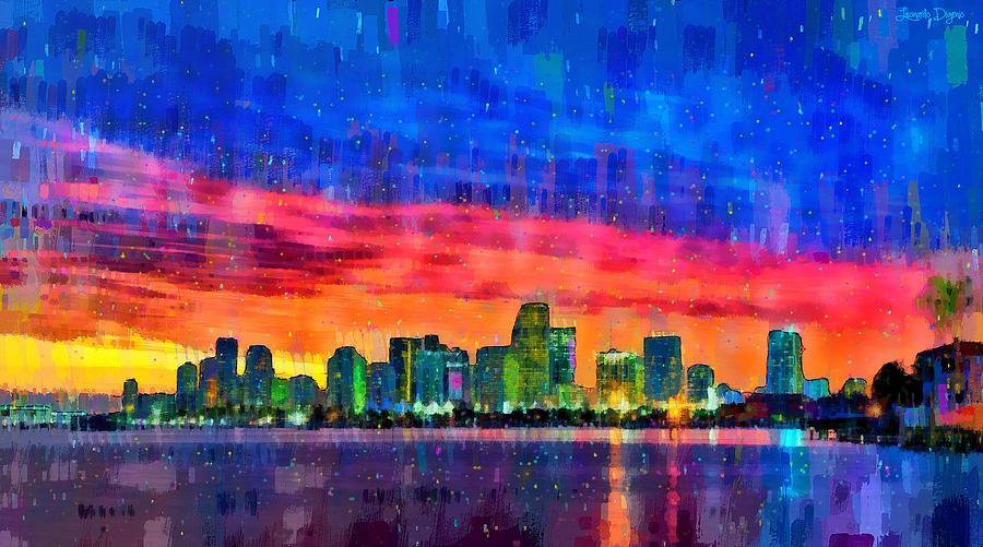 Miami Skyline 120 - Pa Painting