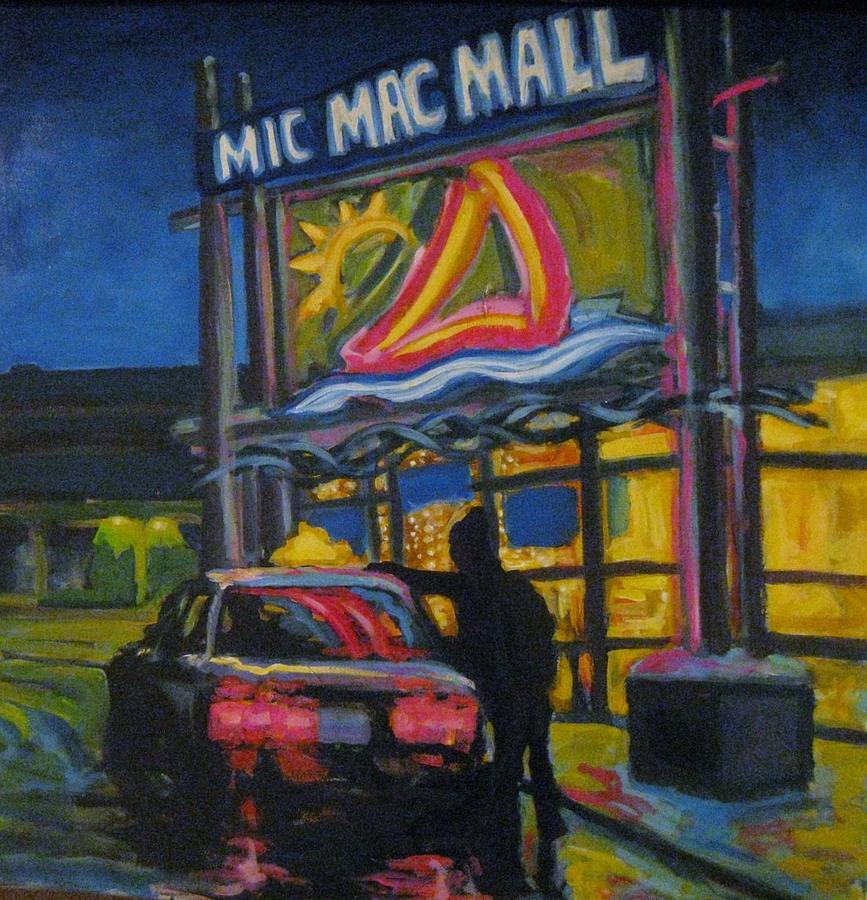 Retail Painting - Mic Mac Mall  Spectre Of The Next Great Depression by John Malone