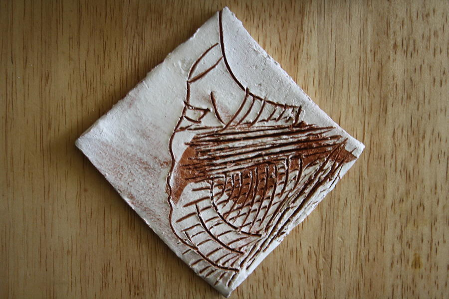 Jesus Ceramic Art - Micah - Tile by Gloria Ssali