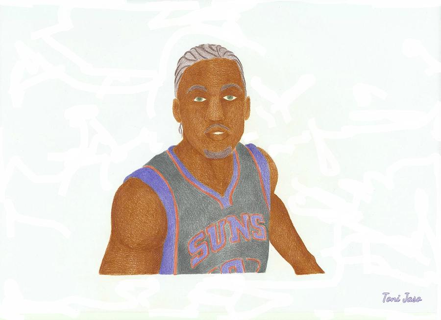 Basketball Drawing - Michael Beasley  by Toni Jaso