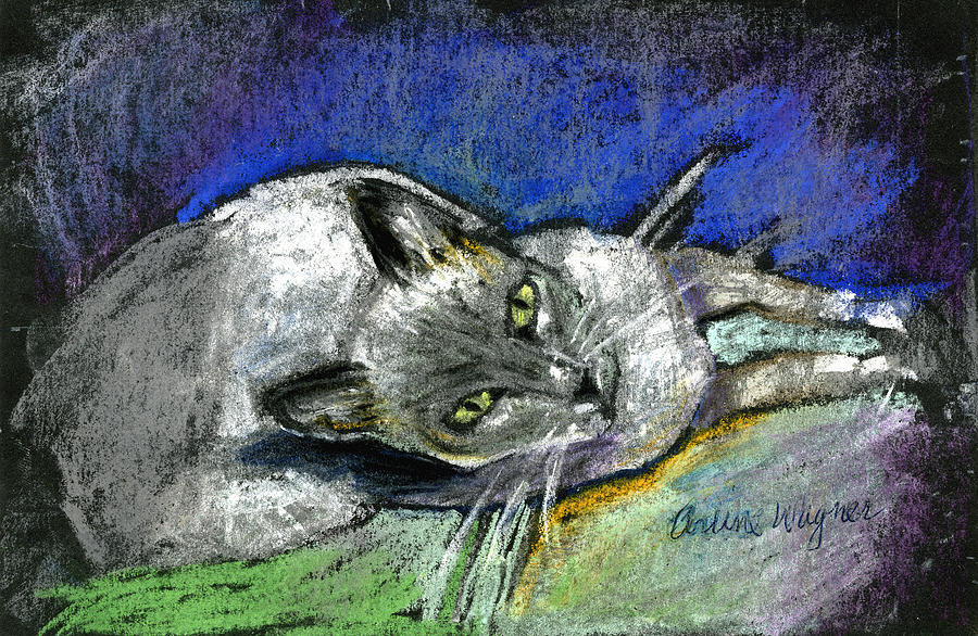 Cat Pastel - Michael Campbell by Arline Wagner