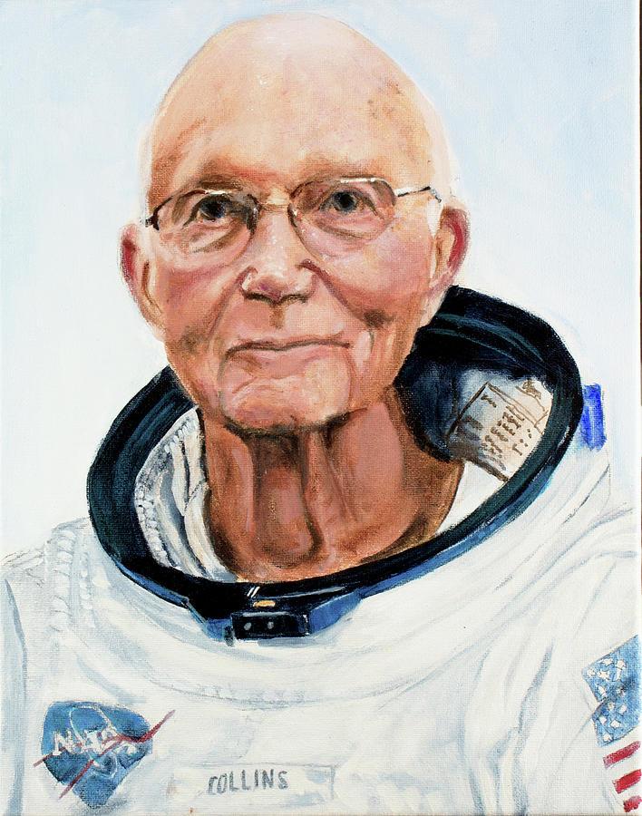 Michael Collins Painting by Simon Kregar