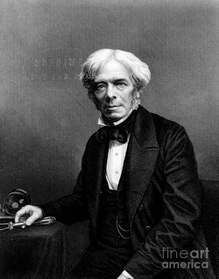 History Photograph - Michael Faraday, English Physicist by Photo Researchers