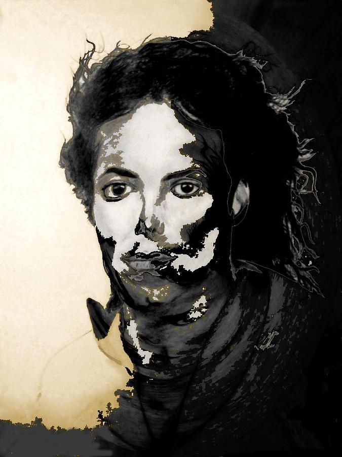 Michael Jackson Digital Art - Michael J by LeeAnn Alexander