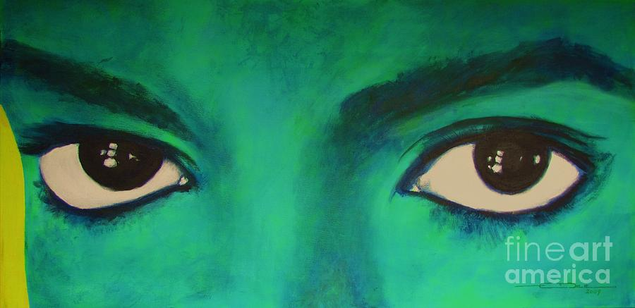 King Of Pop Painting - Michael Jackson - Eyes by Eric Dee