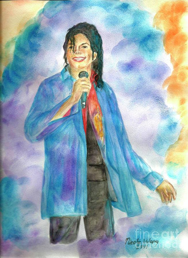 Michael Jackson Painting - Michael Jackson - The Final Curtain Call by Nicole Wang