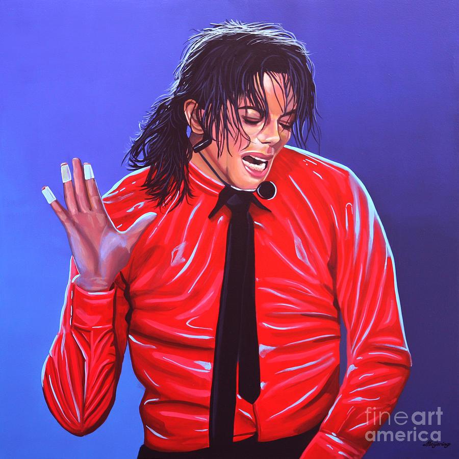Michael Jackson Painting - Michael Jackson 2 by Paul Meijering