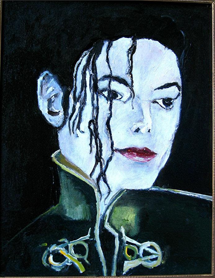 Music Painting - Michael Jackson 2 by Udi Peled