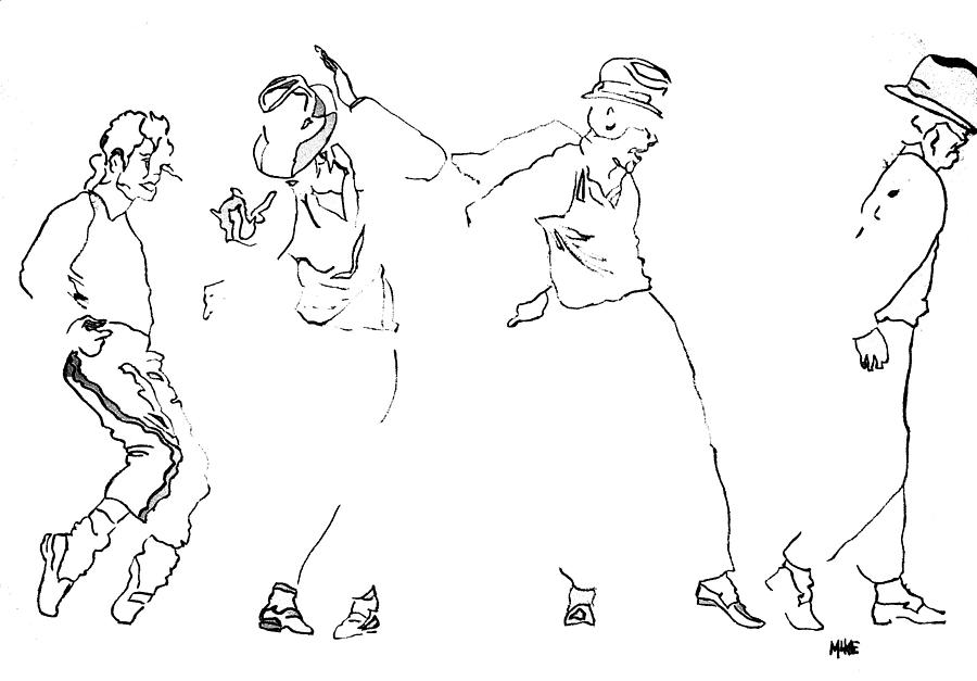 Michael Jackson Drawing - Michael Jackson Billie Jean by Michael Fields