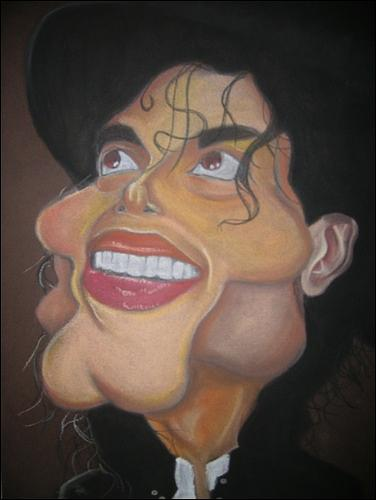Michael Jackson Caricature Painting by Sean Leonard