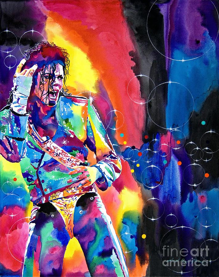 Michael Jackson Painting - Michael Jackson Flash by David Lloyd Glover