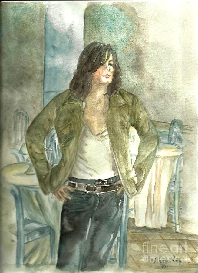 Michael Jackson Painting - Michael Jackson One More Chance Screenshot by Nicole Wang