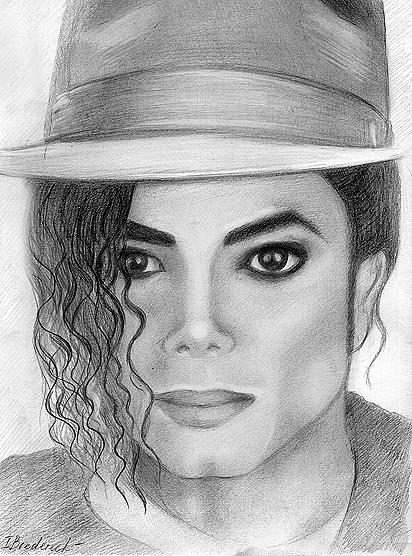 Michael Painting - Michael Jackson Pencil Drawing by Inna Bredereck