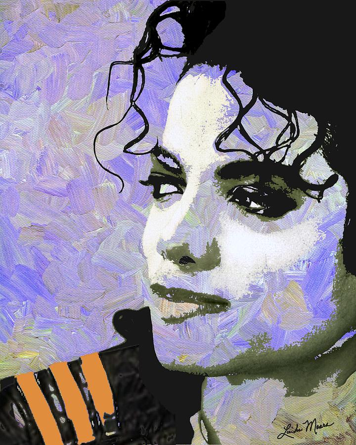 Michael Jackson Digital Art - Michael Jackson Purple by Linda Mears