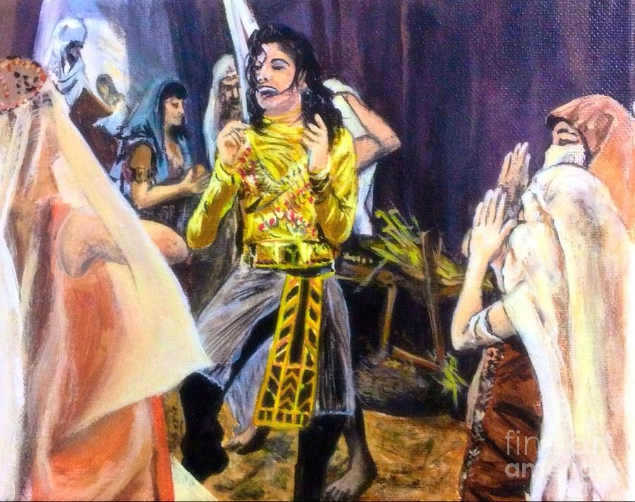 Michael Jackson Remember The Time Painting By Alexander Gatsaniouk - Michael jackson religion