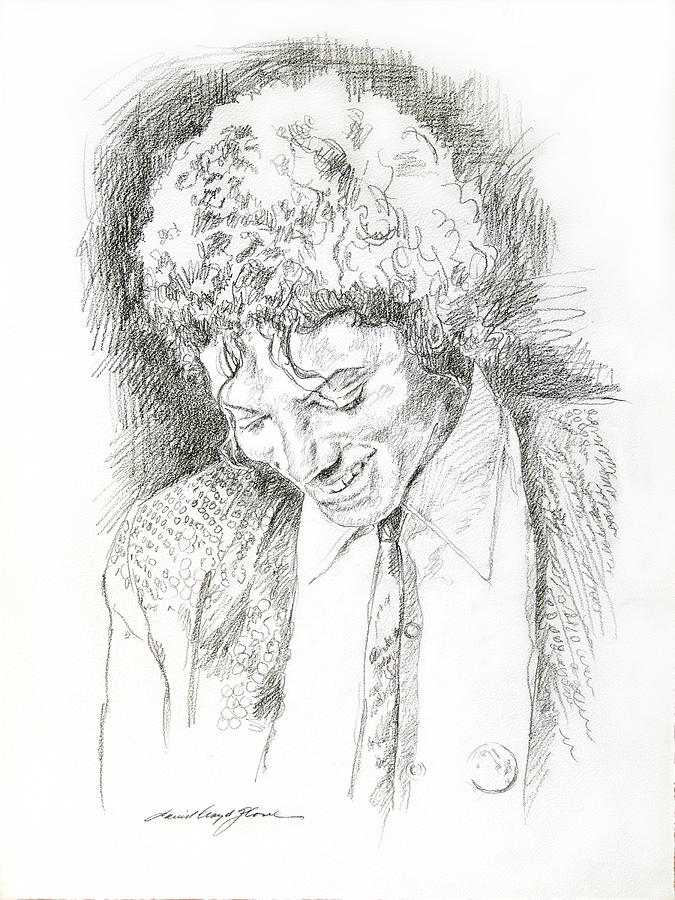Michael Jackson Drawing - Michael Jackson - Remember the Time by David Lloyd Glover