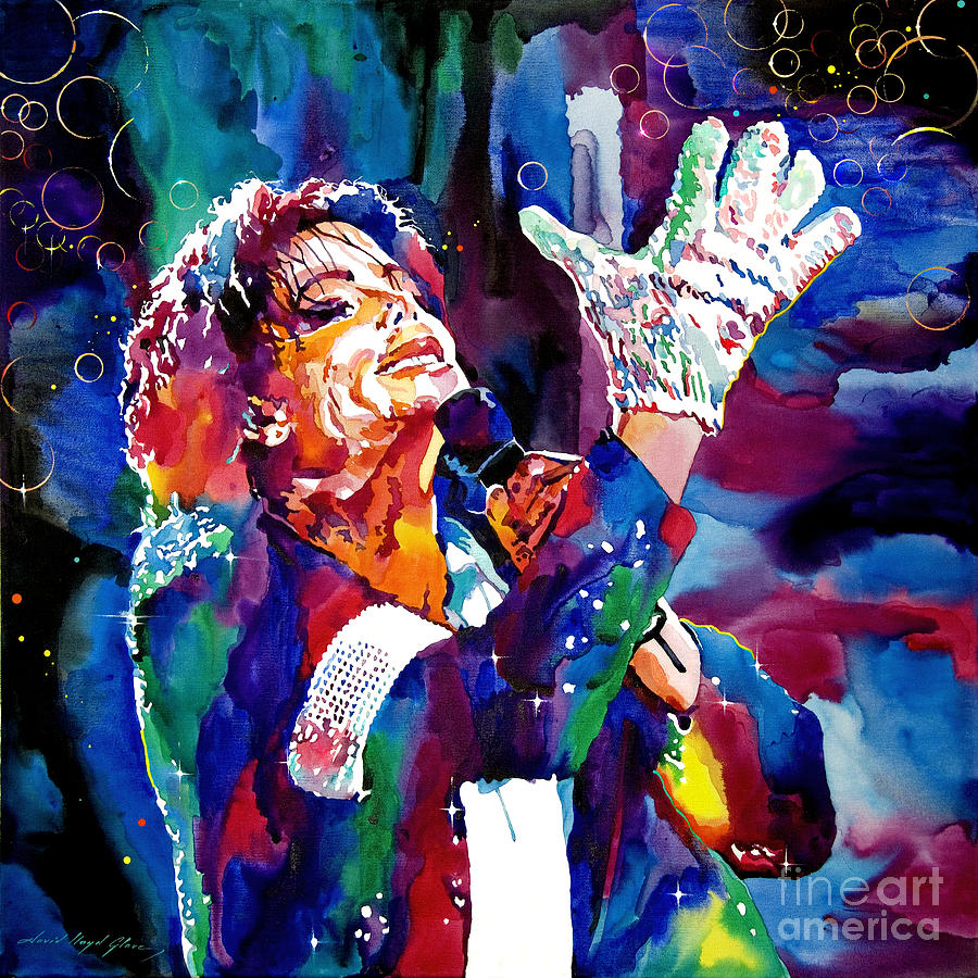 Michael Painting - Michael Jackson Sings by David Lloyd Glover
