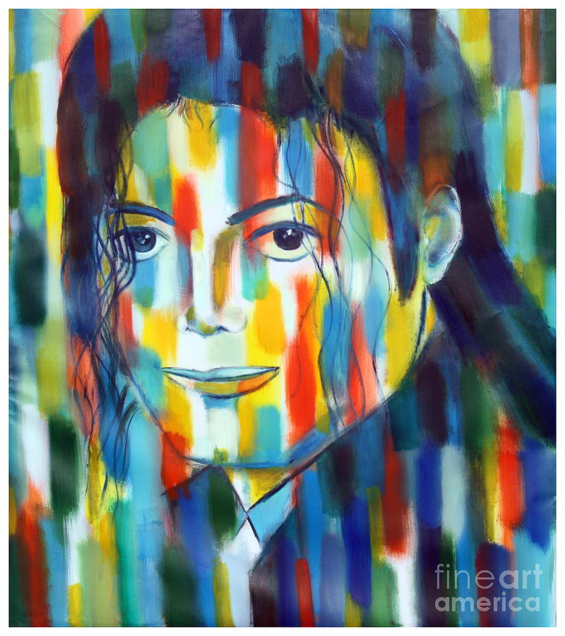 Michael Jackson  The Man In Color Painting by Habib Ayat