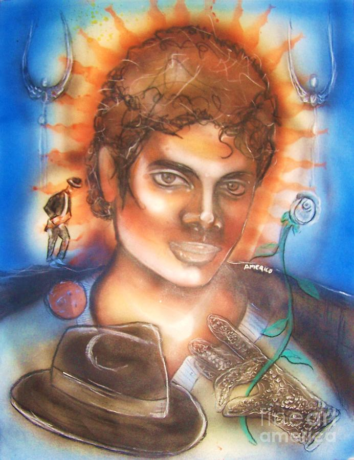 Michael Jackson Mixed Media - Michael Jackson Tribute  by Americo Salazar