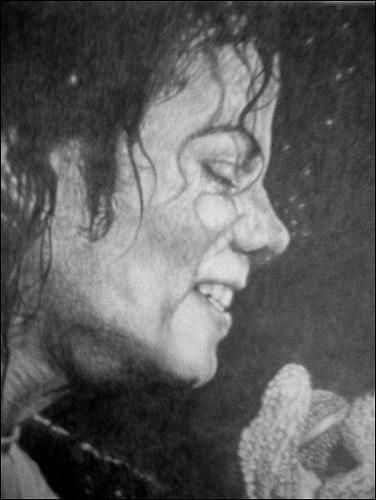 Michael Jackson Drawing - Michael Jackson Tribute by Sean Leonard