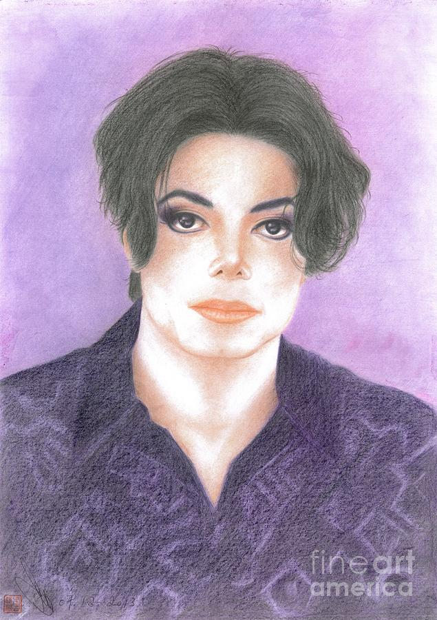 Celebrities Drawing - Michael Jackson - You Are Not Alone by Eliza Lo