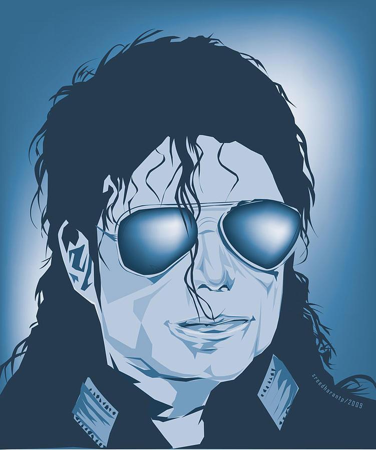 Michael Digital Art - Michael Jakson by Sreedharan Tp
