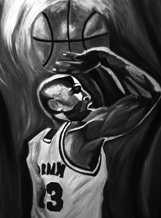 Michael Jordan Paintings Painting - Michael Jordan 5 by Mikayla Ziegler