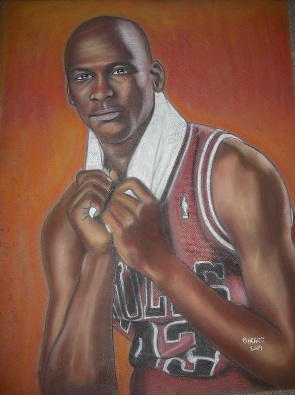 Michael Jordan Painting Pastel - Michael Jordan by Bernell  Heard