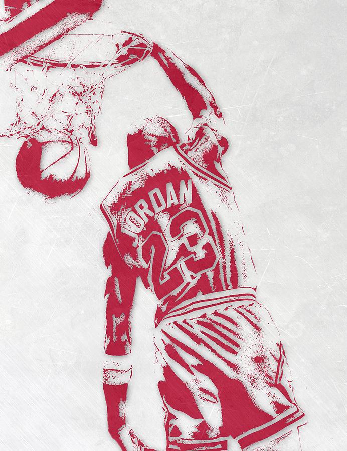 Michael Jordan Mixed Media - Michael Jordan Chicago Bulls Pixel Art 1 by Joe Hamilton