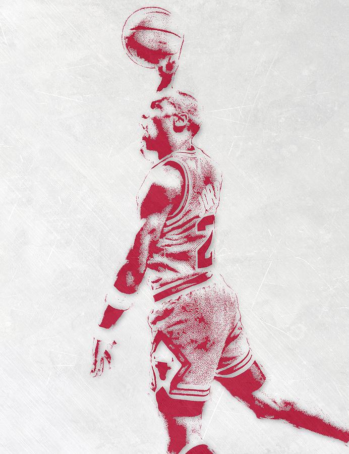 michael jordan mixed media michael jordan chicago bulls pixel art 3 by joe hamilton