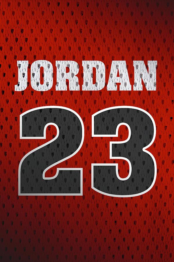 huge discount cd204 c030c Michael Jordan Chicago Bulls Retro Vintage Jersey Closeup Graphic Design
