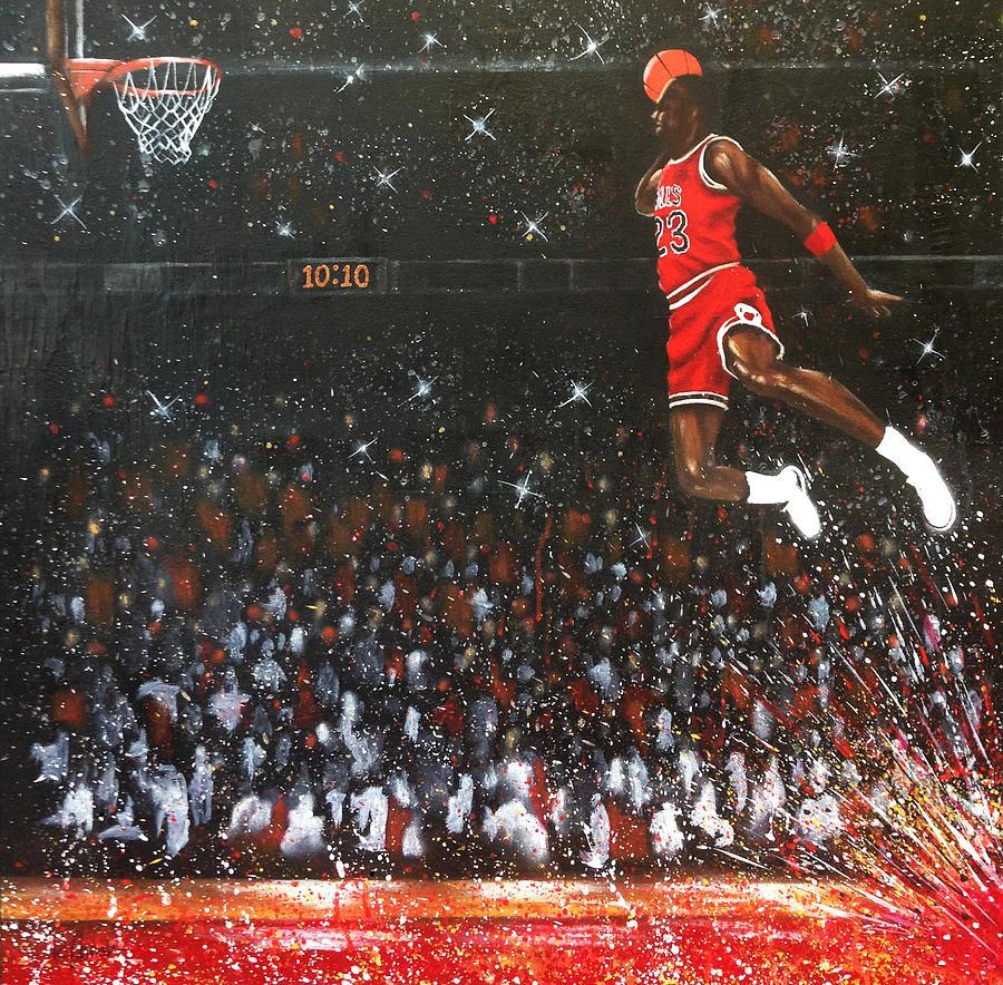 Michael Jordan Painting - Michael Jordan Custom Painting by Roly Orihuela