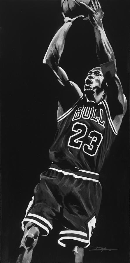 Jordan Drawing - Michael Jordan by Don Medina