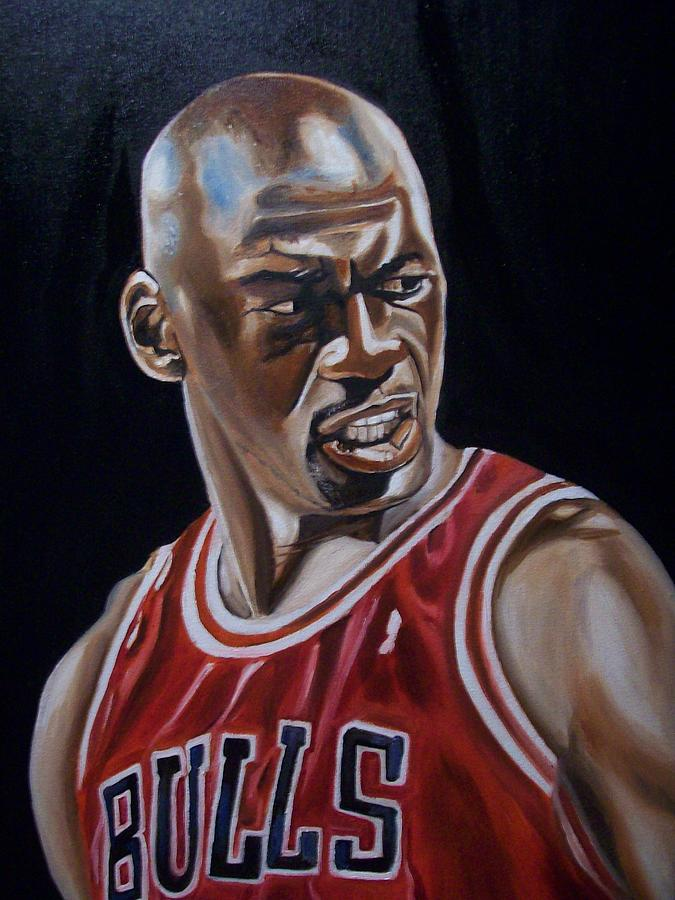 Basketball Painting - Michael Jordan by Mikayla Ziegler