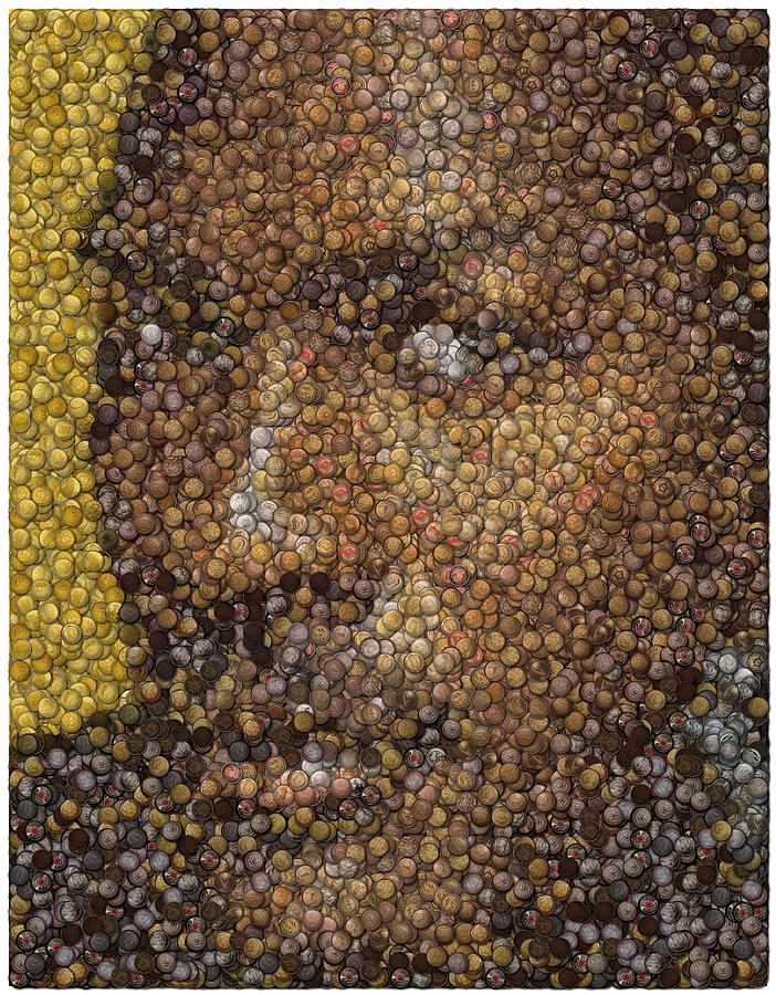 Chicago Digital Art - Michael Jordan Money Mosaic by Paul Van Scott