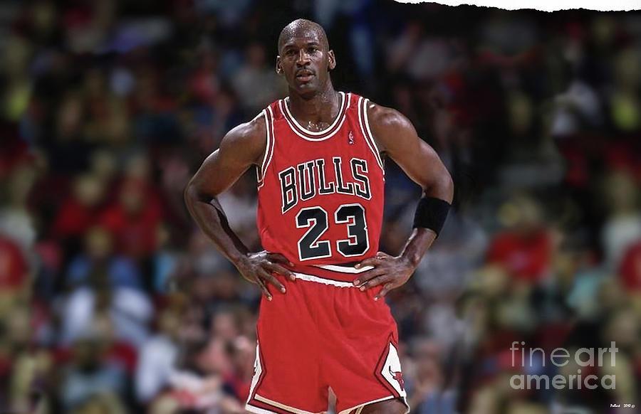 1d6b7380cbe Michael Jordan Mixed Media - Michael Jordan, Number 23, Chicago Bulls by  Thomas Pollart