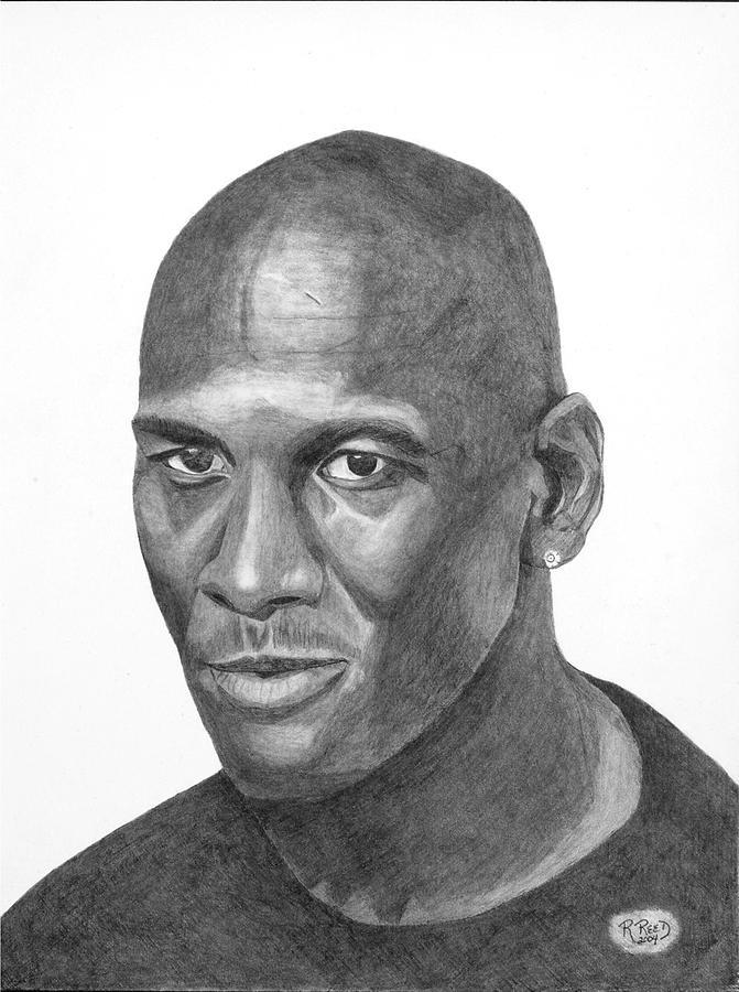 Michael jordan portrait wall art drawing michael jordan by randy reed