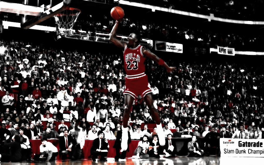 0b325a5f47de Air Jordan Mixed Media - Michael Jordan Smooth Slam Dunk by Brian Reaves