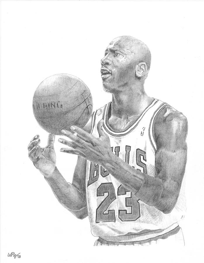 Michael Jordan Drawing - Michael Jordan by William Pleasant