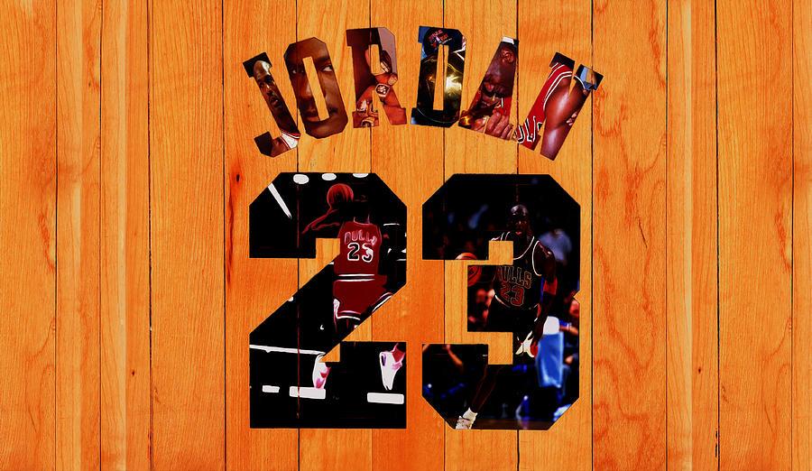 Michael Jordan Mixed Media - Michael Jordan Wood Art 1a by Brian Reaves