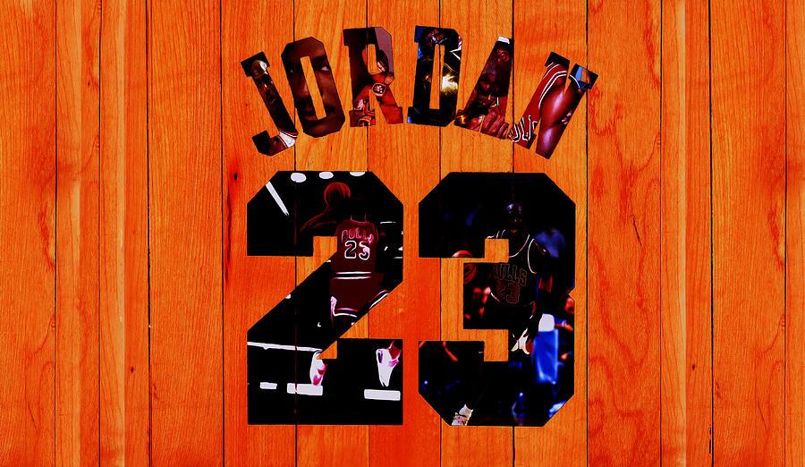 Michael Jordan Mixed Media - Michael Jordan Wood Art 1c by Brian Reaves
