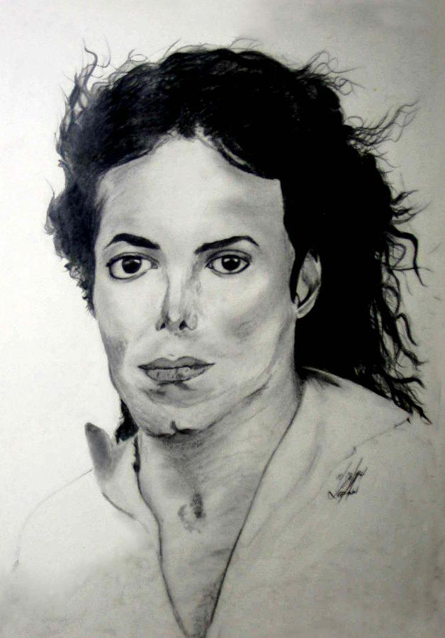 Drawing Drawing - Michael by LeeAnn Alexander