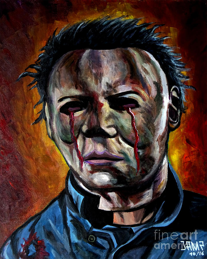 Halloween Painting - Michael Myers 2 by Jose Mendez