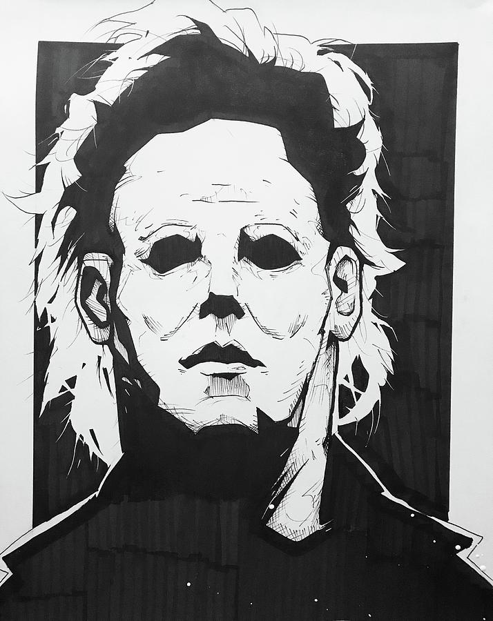 michael myers drawing by wickedlamb