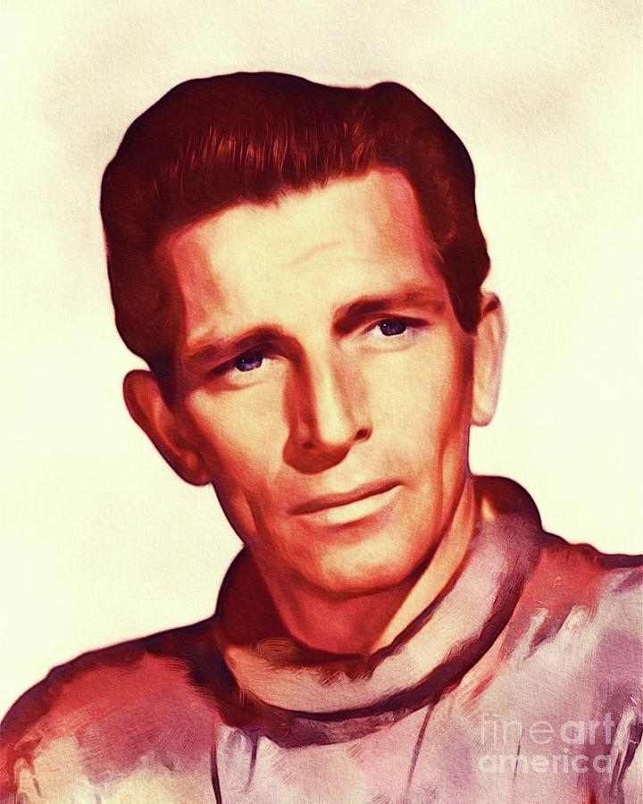 Michael Painting - Michael Rennie, The Day The Earth Stood Still by John Springfield